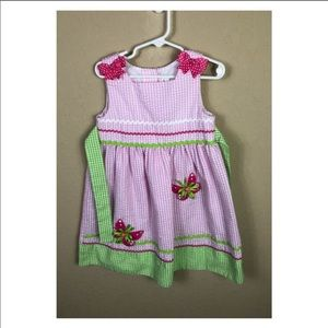 Emily Rose Seersucker Dress w Bows & Butterflies 6